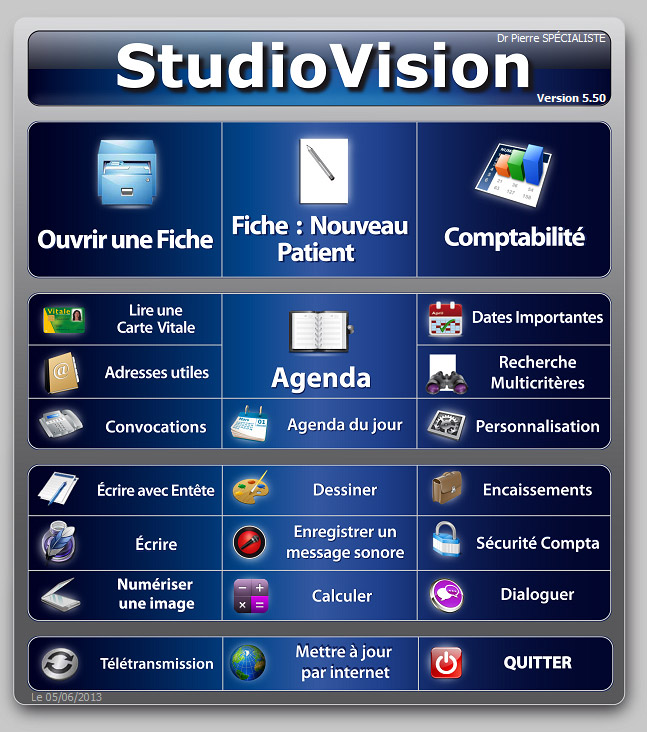 studiovision logiciel pour ophtalmologistes de realvision. Black Bedroom Furniture Sets. Home Design Ideas